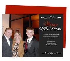 Photo Cards : Eve Christmas Holiday Photo Card Template