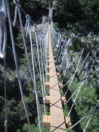 Navitat Canopy Tour - Bridge to Zipline with views of San Bernardino Mountains and Mojave desert @ Wrightwood Guest Ranch