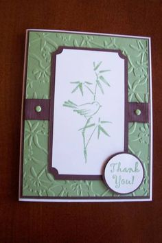 Thank You card by Jill stamps - Cards and Paper Crafts at Splitcoaststampers