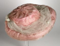 Hat: ca. 1900, silk chiffon and tulle. LACMA Collections Online