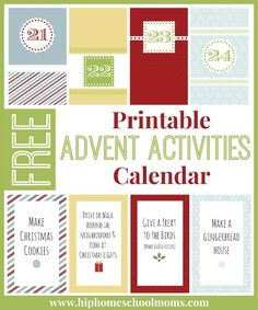 Free Advent Activities Printable Calendar