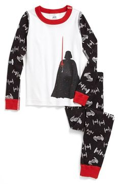 Hanna Andersson 'Lightsaber' Organic Cotton Two-Piece Fitted Pajamas (Little Boys & Big Boys) available at #Nordstrom