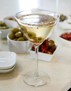 DIY Extra Dirty Martini Bar!! with some crazy stuffed olives I howsweeteats.com