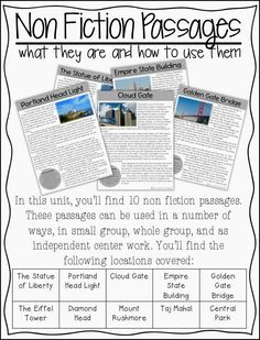 Life in Fifth Grade: Close Reading Passages