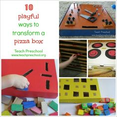 10 playful ways to transform a pizza box by Teach Preschool