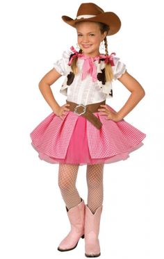 Cowgirl Costume- make tuti from pink banadanas and add sequins/glitter to hat
