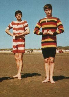 Paul and John in bathing costume