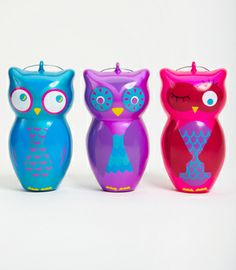 Glass Owl Ornaments $26 for a set of 3