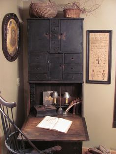 1 old desks, corner desk, writing desk, primitive desks, cabinet, windsor chairs, old chairs, antiqu