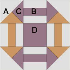 quilt block, churn dash