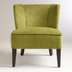 Apple Green Quincy Chair | World Market (with that nutmeg sofa) :)