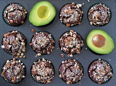 Chocolate Avocado Muffins (Gluten-Free and Vegan)