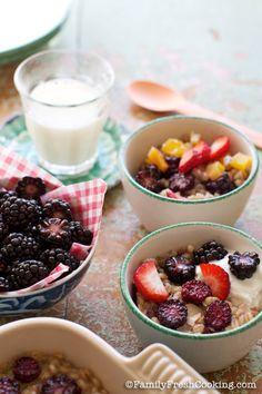 Blackberry Barley Breakfast Bake