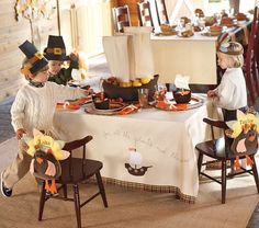 #Thanksgiving #table for #kids #mealtime #holidays