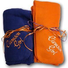 Clemson Girl Fleece Blanket!
