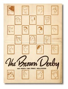Brown Derby Menu
