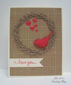 reed bird, bird die, grapevin wreath
