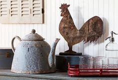 charm, idea, farmhous continu, countri decor, decor accessori, metal rooster, decorative accessories, antiqu, kitchen stuff