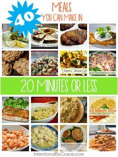 40 Meals You Can Mak