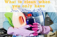 Organizing your time for cleaning the house -- Ask Anna