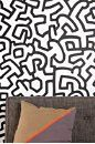 Keith Haring Pattern Wall Decal   urbanoutfitters.com