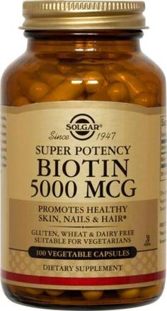 I'm taking 4000mcg/day now...not only does it benefit your hair, skin and nails, it helps with slow metabolism, too!  An added benefit!  Biotin is a water-soluble B-vitamin. After about 3 months of taking it regularly and your hair, nails, and lashes will be growing longer and faster.