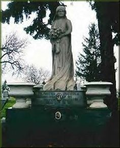 The Italian Bride, Julia Picola. Found to be incorruptible, and reportedly haunts Mt Carmel Cemetery, Hillside Illinois