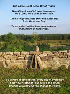 Triads.  Bless the Celts for recognizing the beauty of threes. X