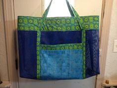 Beach Bag.  Large bag, Looks like this wold be a carry everything bag.  Peace, RObert from nancysfabrics.com