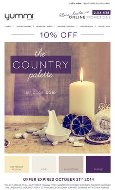 10% OFF The Country Palette! Use Promo Code CO10 At Checkout