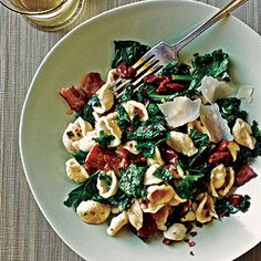 Orecchiette with Kale, Bacon, and Sun-Dried Tomatoes   CookingLight.com