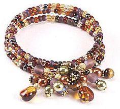 Jewelry Making Idea: Toffee Burst Bracelet (eebeads.com)