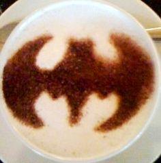 .·:*¨¨*:Coffee♥Art:*¨¨*:·. #Batman #latte #coffee