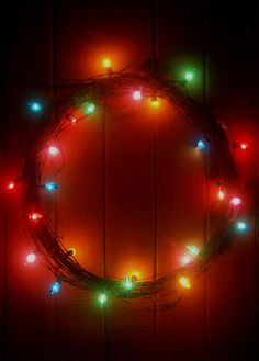Christmas wreath from barbed wire