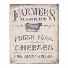 Introduce a vintage look to your wall decor with the Farmer's Market Wall Plaque! #kirklands #frenchcountrydining #farmersmarket #wallplaque