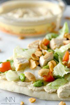 Asian Salad Hummus Flatbread