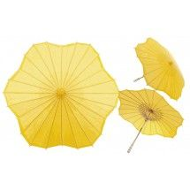 Yellow Scalloped Shaped Paper Parasol