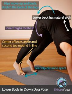How to place your lower body in Downward Dog #yoga