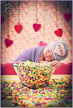 Newborn+Baby+Girl+Photo+Prop+Valentine+Hat+by+MitziKnitz+on+Etsy,+$25.00