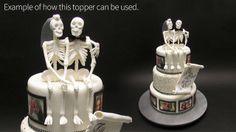 Skeleton Bride and Groom Cake Topper Tutorial by Yeners Way