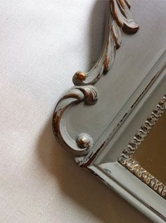 French Linen rubbed back to original gold.