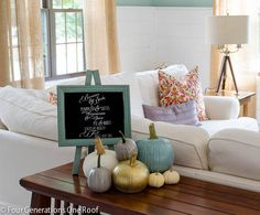 Love the painted pumpkins for fall!