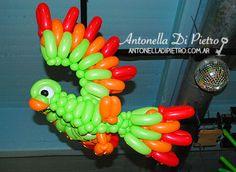 Color, pájaro en globo, Rio, Rio movie. Selva, ideas para decorar un cumpleaños http://antonelladipietro.com.ar/blog/2013/07/selva-cumple/