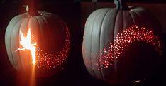 Halloween Tinker Bell Pumpkin http://www.handimania.com/diy/halloween-tinker-bell-pumpkin.html