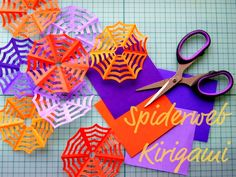 Paper spider webs -- making these pronto!