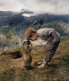 8-Year-Old Has Amazing Friendship With Alpine Marmots - PawNation