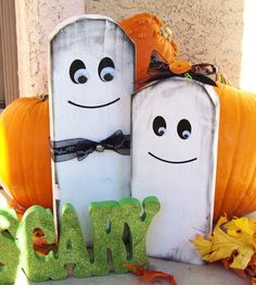 Wooden Ghosts #halloween #ghost