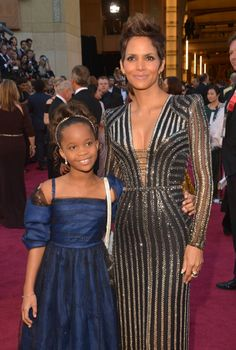 Q Wallis and Halle Berry - 85th Oscar 2013, LA