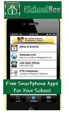 Create a FREE app for your PTO and school very easily. The iSchoolBox App is a FREE service by 806 Technologies, Inc. that helps school administrators create mobile apps for their schools. Simply create an account and in a matter of minutes you can setup an app for your school in the Apple App Store without any prior programming knowledge! And the best part is that it's absolutely free for schools to create an app! pto school store, school administrators