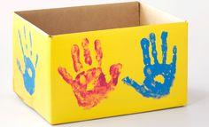 Cardboard Gardening Container: Handprint Project